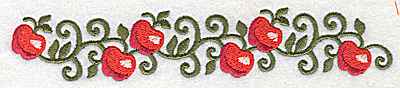 Embroidery Design: Apple border 6.96w X 1.27h