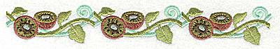 Embroidery Design: Kiwi border 6.99w X 1.03h