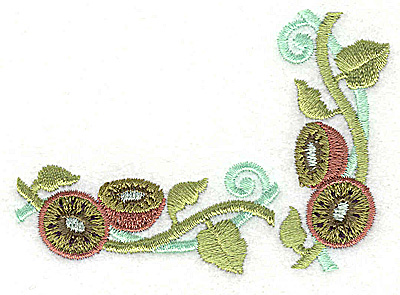 Embroidery Design: Kiwi corner 3.35w X 2.41h