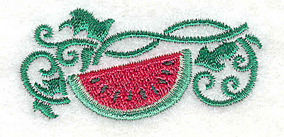 Embroidery Design: Watermelon 2.35w X 1.13h