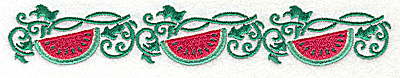 Embroidery Design: Watermelon border 6.96w X 1.13h