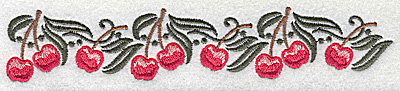 Embroidery Design: Cherry border 6.92w X 1.31h