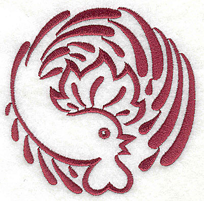 Embroidery Design: Rooster 2 large3.83w x 3.86h
