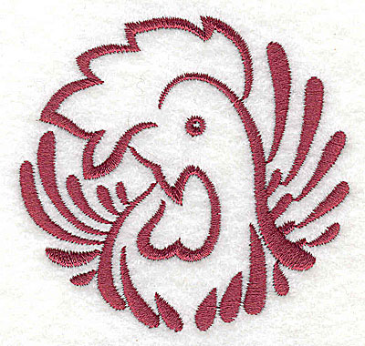 Embroidery Design: Rooster 3 small2.90w x 3.03h