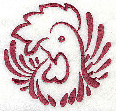 Embroidery Design: Rooster 3 large3.71w x 3.87h