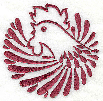 Embroidery Design: Rooster 4 large3.84w x 3.89h