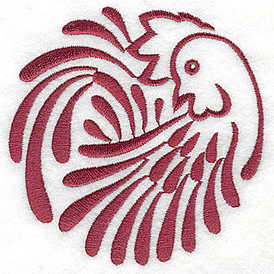 Embroidery Design: Rooster 5 large3.88w x 3.85h