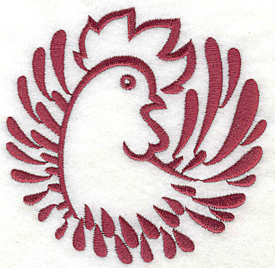 Embroidery Design: Rooster 6 large3.82w x 3.87h