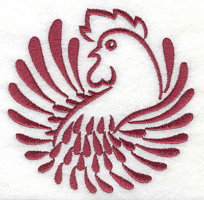 Embroidery Design: Rooster 8 large3.85w x 3.86h