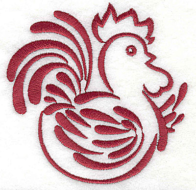 Embroidery Design: Rooster 9 large3.87h x 3.87h