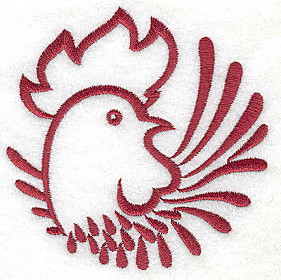 Embroidery Design: Rooster 10 large3.88w x 3.86h