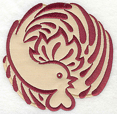 Embroidery Design: Rooster 2 applique4.97w x 5.01h