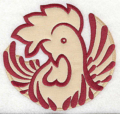 Embroidery Design: Rooster 3 applique4.97w x 5.18h
