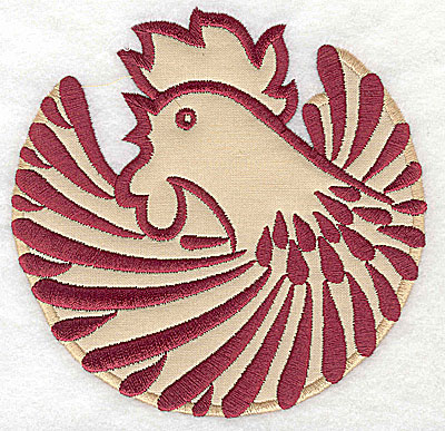 Embroidery Design: Rooster 4 applique4.97w x 4.99h