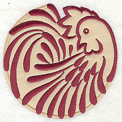 Embroidery Design: Rooster 5 applique4.95w x 4.92h