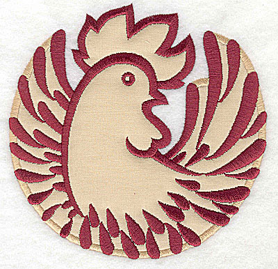 Embroidery Design: Rooster 6 applique4.94w x 5.00h