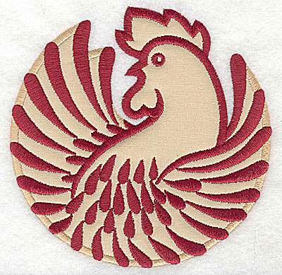 Embroidery Design: Rooster 8 applique4.98w x 5.00h