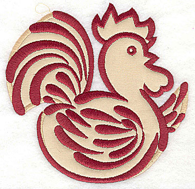 Embroidery Design: Rooster 9 applique4.96w x 4.95h