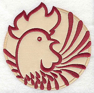Embroidery Design: Rooster 10 applique4.98w x 4.94h