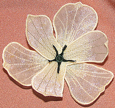 "Embroidery Design: Lily 3D Flowers small4.12""w X 3.86""h"
