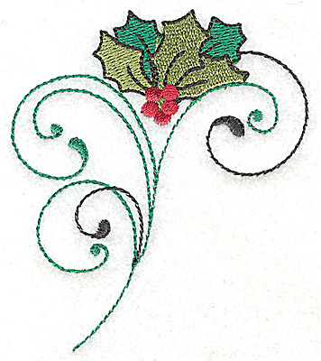 Embroidery Design: Holly bouquet 3.01w X 3.51h