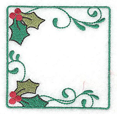 Embroidery Design: Holly design in square 3.04w X 3.04h