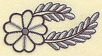 Embroidery Design: Blossom and vines 3.82w X 2.02h