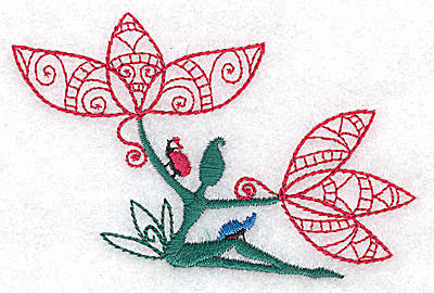 Embroidery Design: Flower Soul A small 3.84w X 2.33h
