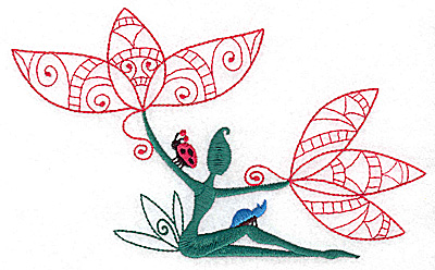 Embroidery Design: Flower Soul A large 6.90w X 4.18h