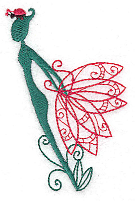 Embroidery Design: Flower Soul B small 2.57w X 3.82h
