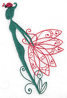 Embroidery Design: Flower Soul B large 3.30w X 4.93h