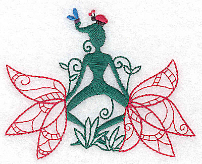 Embroidery Design: Flower Soul C small 3.82w X 3.05h