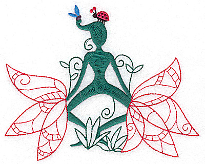 Embroidery Design: Flower Soul C large 6.03w X 4.83h
