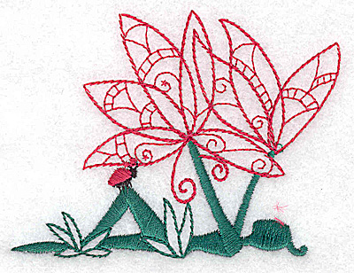 Embroidery Design: Flower Soul D small 3.81w X 2.83h