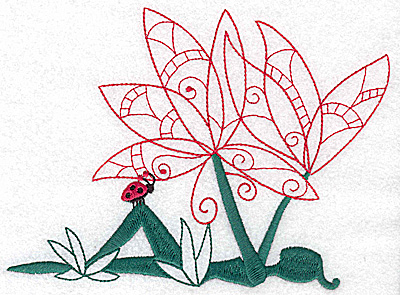 Embroidery Design: Flower Soul D large 6.66w X 4.94h