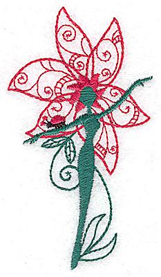 Embroidery Design: Flower Soul E small 2.80w X 3.80h