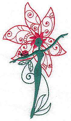 Embroidery Design: Flower Soul E large 2.75w X 4.98h