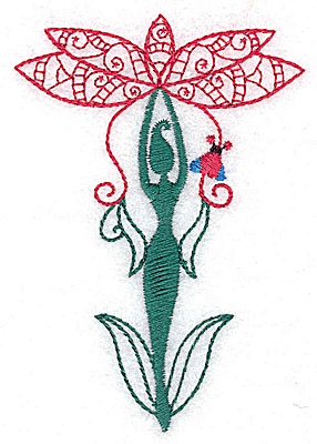 Embroidery Design: Flower Soul F small 2.65w X 3.81h