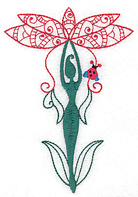 Embroidery Design: Flower Soul F large 3.44w X 4.95h