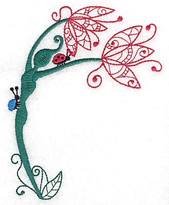 Embroidery Design: Flower Soul G large 3.92w X 4.98h