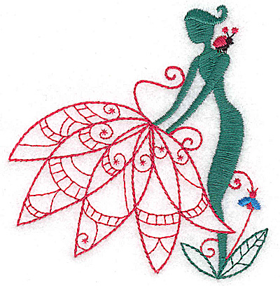 Embroidery Design: Flower Soul I small 3.45w X 3.63h