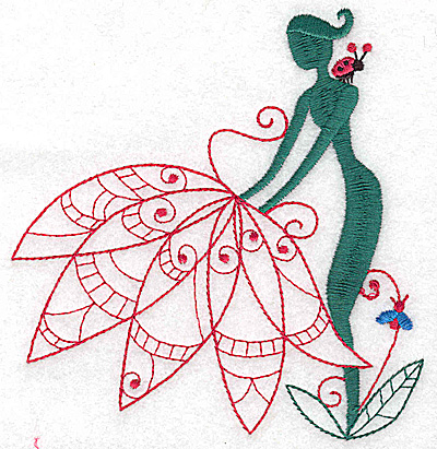 Embroidery Design: Flower Soul I large 4.69w X 4.93h