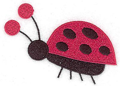 Embroidery Design: Ladybug A large 3.52w X 2.57h