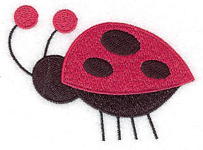 Embroidery Design: Ladybug B large 3.55w X 2.69h
