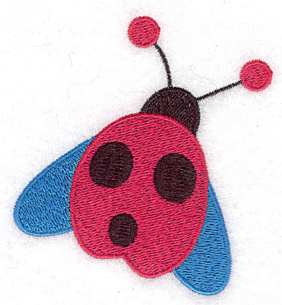 Embroidery Design: Winged ladybug large 3.31w X 3.52h