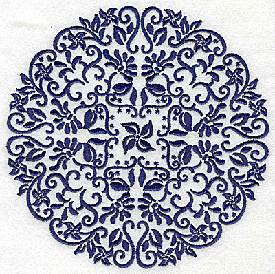 Embroidery Design: Fancy Circle A large 6.51w X 6.51h