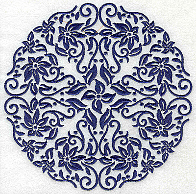Embroidery Design: Fancy Circle B large 6.53w X 6.53h