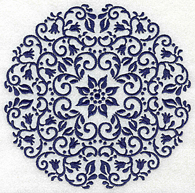 Embroidery Design: Fancy Circle C large 6.53w X 6.53h