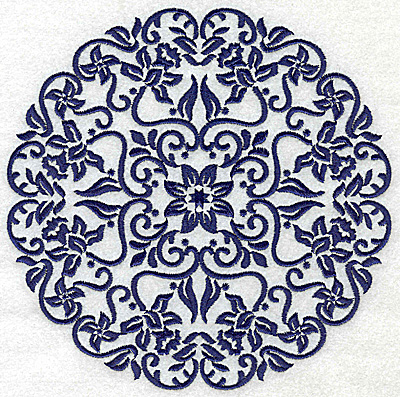 Embroidery Design: Fancy Circle F large 6.51w X 6.51h