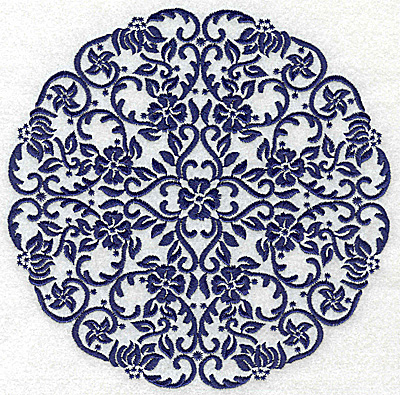 Embroidery Design: Fancy Circle G large 6.51w X 6.51h